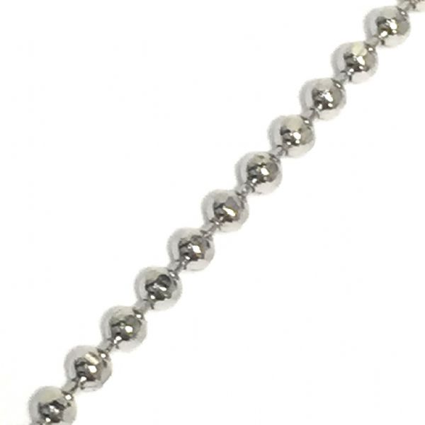 1.5mm faceted coloured ball chain - rhodium